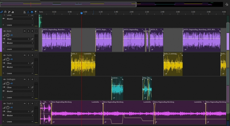 Multitrack Session in Audition